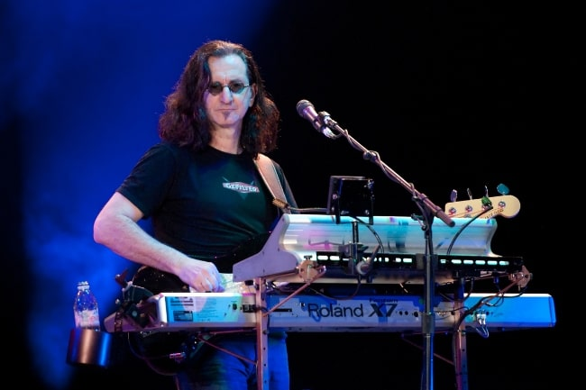 Geddy Lee as seen while playing with 'Rush' in Rotterdam, Netherlands at their 2010-2011 Time Machine tour