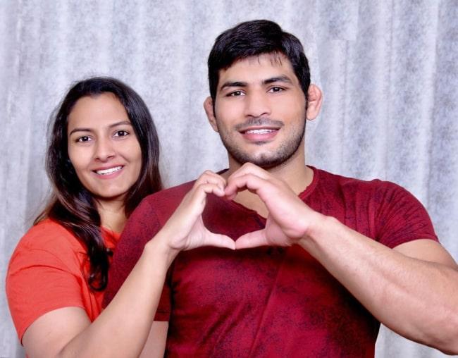 Geeta Phogat and Pawan Kumar, as seen in September 2019