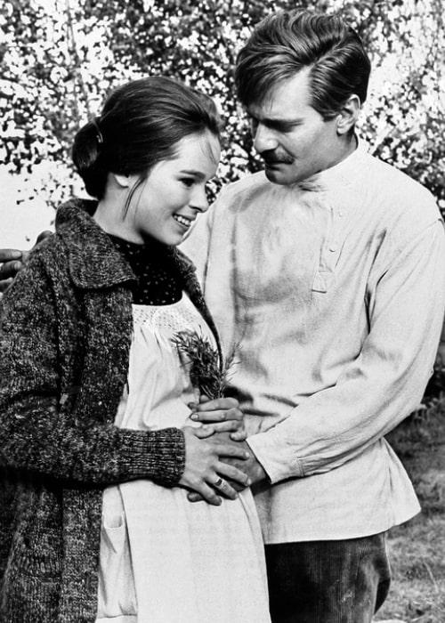 Geraldine Chaplin and Omar Sharif as seen in 'Doctor Zhivago' in 1965