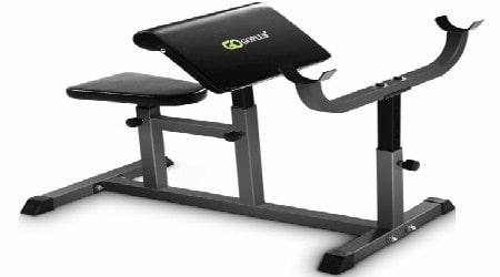 Goplus Preacher Curl Weight Bench Review