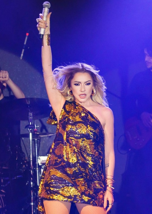 Hadise during a concert in November 2019
