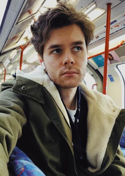 Harrison Webb in an Instagram selfie from February 2019