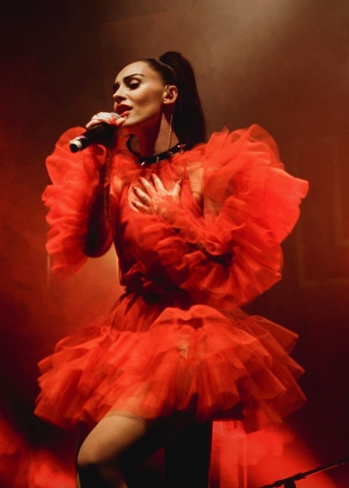 Ilira as seen while performing in Berlin, Germany in May 2019