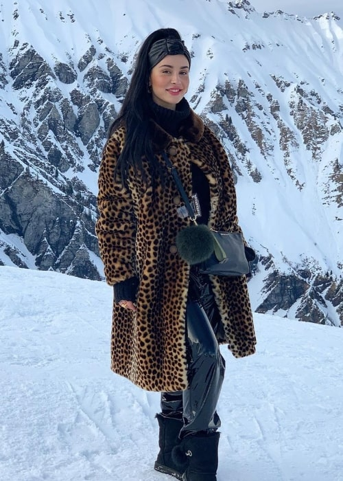 Ilira smiling for the camera in Adelboden, Switzerland in March 2020