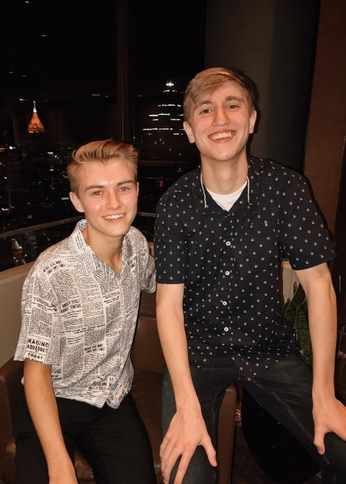 It's Just Luke (Left) as seen while posing for the camera along with Kyle Abercrombie in January 2019
