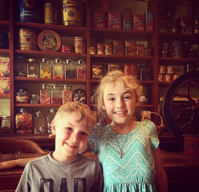 Jacob Ballinger with his sister Bailey as seen in June 2016