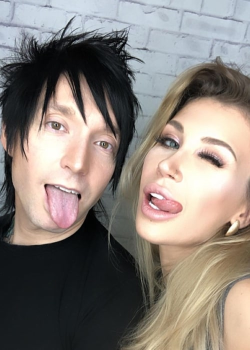 Jake Pitts as seen in a selfie taken with his wife Inna Logvin Pitts in February 2020
