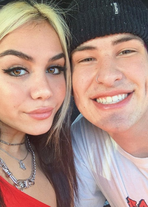 Jake Webber and Tara Thompson, as seen in October 2019
