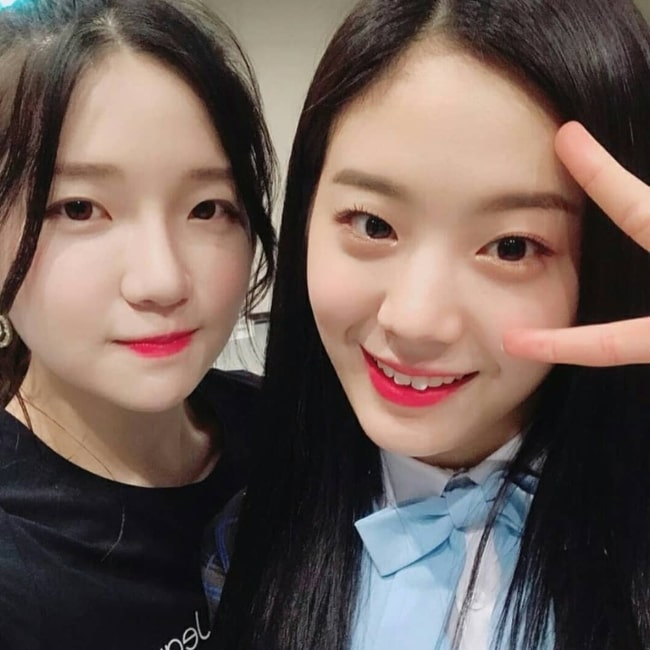 Jang Gyu-ri as seen in a selfie taken with Yucie in March 2018