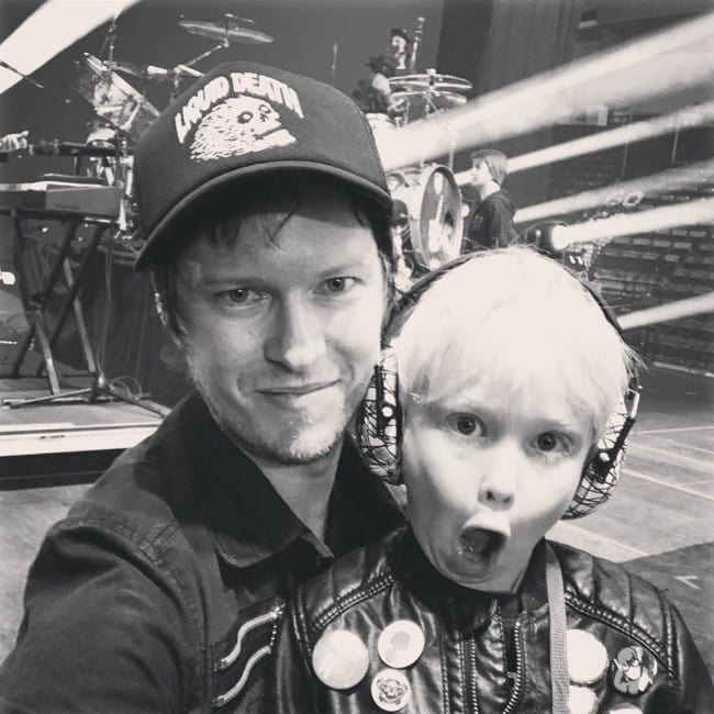 Jason McCaslin with his son as seen in December 2019