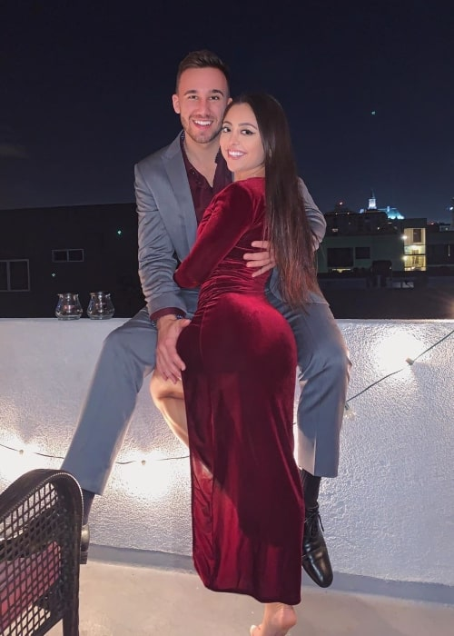 Jazmine Lucero as seen in a picture taken with her beau Colton Altier in Long Beach, California in December 2019