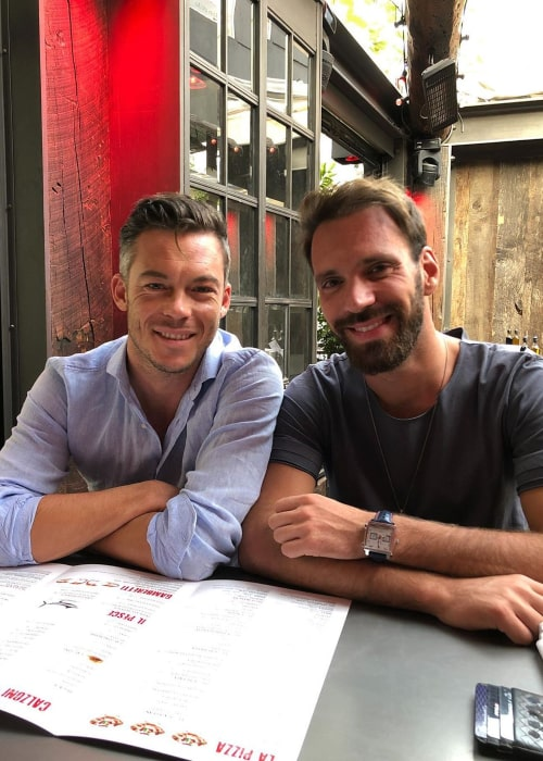 Jean-Éric Vergne and fellow Formula E racing driver André Lotterer, as seen in January 2020