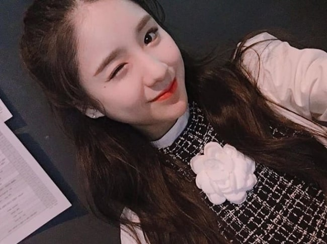 Jeon Hee-jin as seen while smiling in a selfie in December 2018