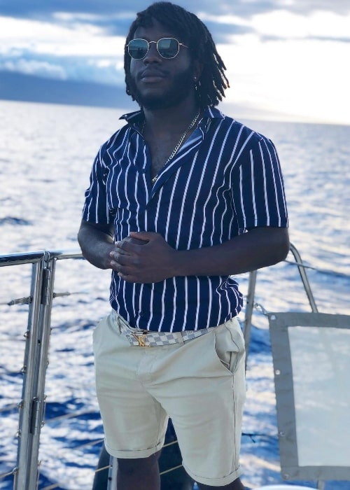 Jerry Purpdrank as seen while posing for the camera in Lahaina, Hawaii in August 2018