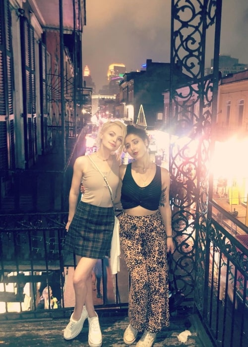 Jessica Amlee (Left) as seen while posing for a picture along with Katya at Bourbon Street in New Orleans, Louisiana in April 2019