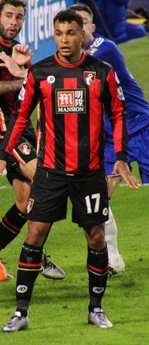 Joshua King seen during the Chelsea vs Bournemouth match in 2015