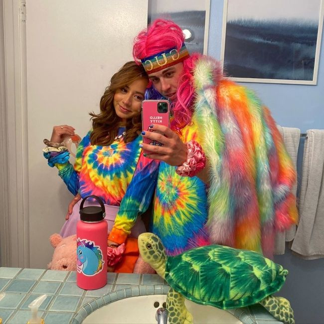 Jostasy posing with her boyfriend Candy Ken in November 2019