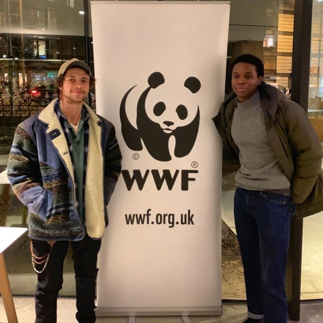 Kedar Williams-Stirling (Right) as seen while posing for a picture alongside Ceallach Spellman in February 2020