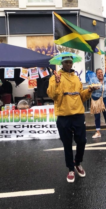 Kedar Williams-Stirling as seen while posing for the camera at the Notting Hill Carnival in August 2018