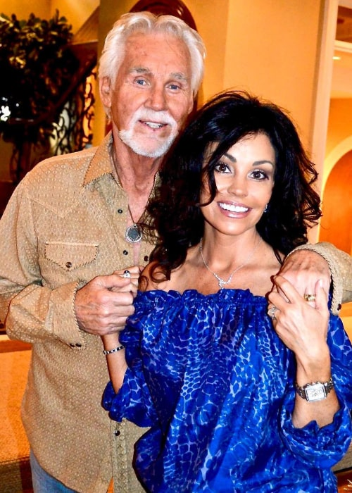 Kenny Rogers and Wanda Miller, as seen in February 2019