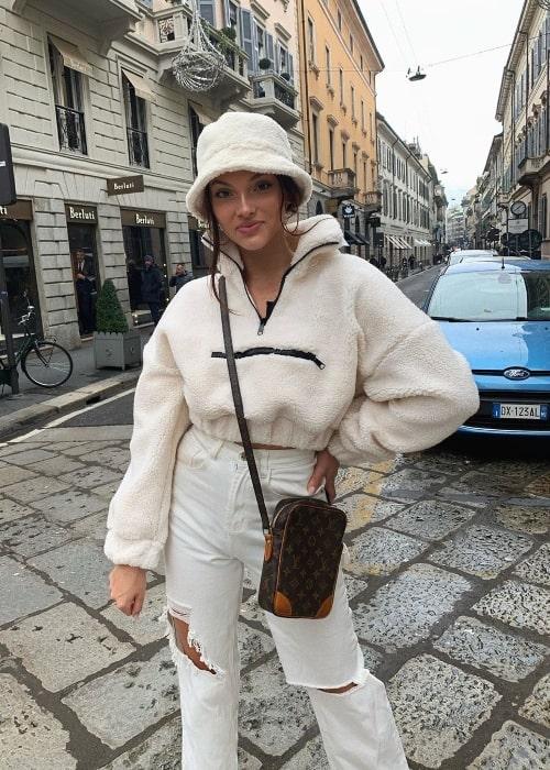 Kensington Tillo as seen while posing for the camera in Milan, Italy in November 2019