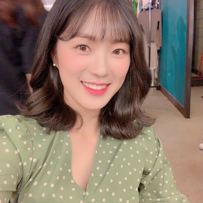Kim Hye-yoon smiling in a selfie in September 2019