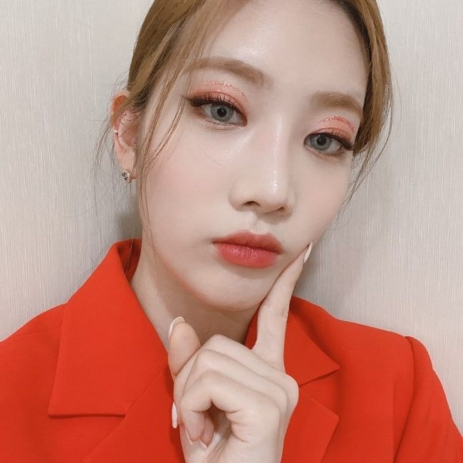 Kim Jung-eun as seen while posing for a selfie in March 2020