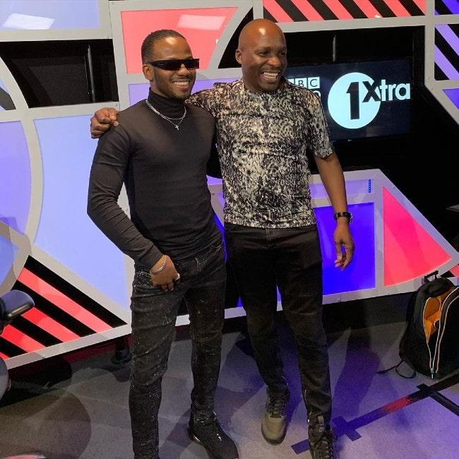 Korede Bello with DJ Edu as seen in February 2020