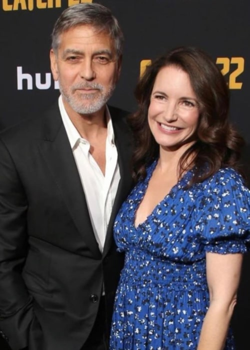 Kristin Davis and fellow actor George Clooney, as seen in May 2019