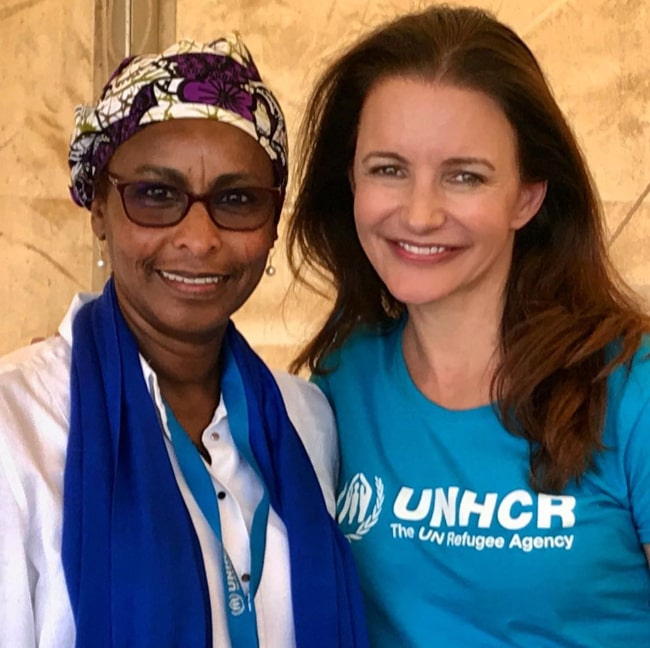 Kristin Davis during a UNHCR mission in Kenya in August 2019