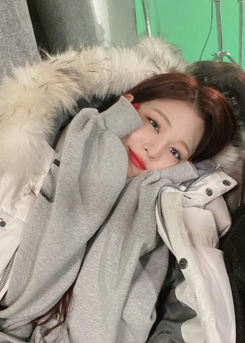 Lee Chae-young as seen in a picture uploaded to her fan account in February 2020