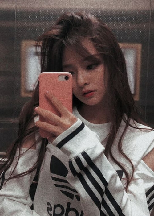 Lee Na-gyung as seen in a selfie taken in November 2019