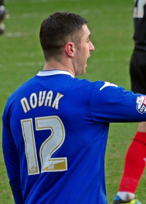Lee Novak as seen while playing for Birmingham City against Huddersfield Town at St Andrew's, Birmingham on February 15, 2014