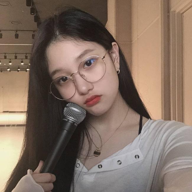 Lee Seo-yeon of Fromis_9 as seen in a selfie taken in February 2020