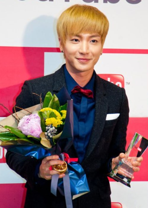 Leeteuk as seen in a picture taken at the 2011 YouTube Award ceremony