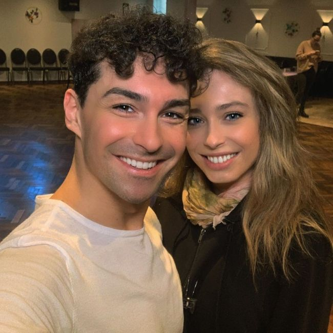 Loiza Lamers seen with her dance partner Andrzej Cibis in February 2020
