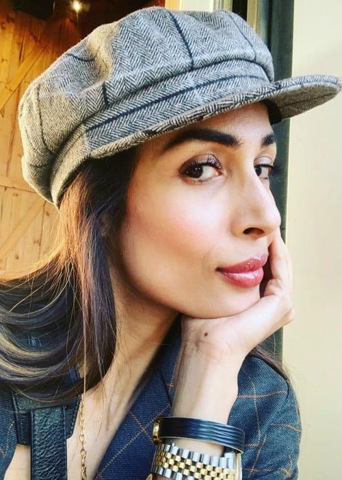 Malaika Arora in an Instagram selfie as seen in January 2020