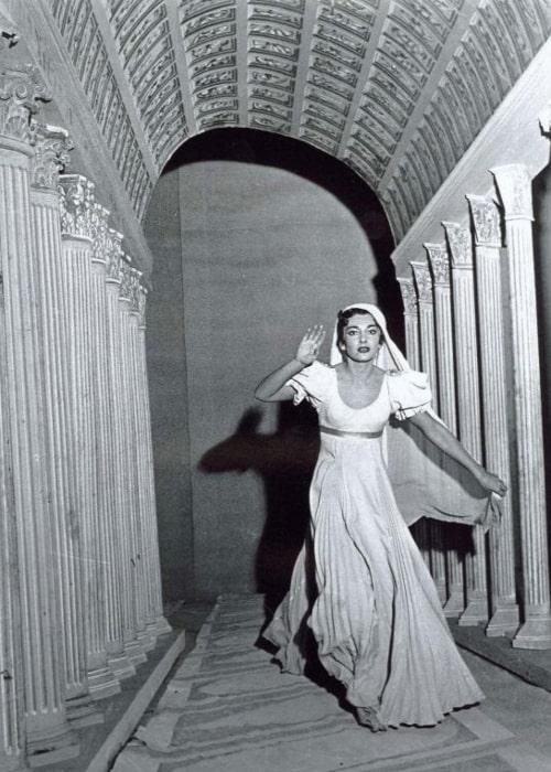 Maria Callas as Giulia in the Opera La Vestale, by Gaspare Spontini, 1954