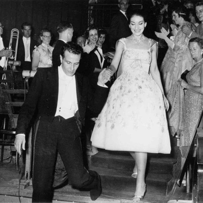 Maria Callas in the Concertgebouw accompanied by conductor Nicola Rescigno, July 11, 1959