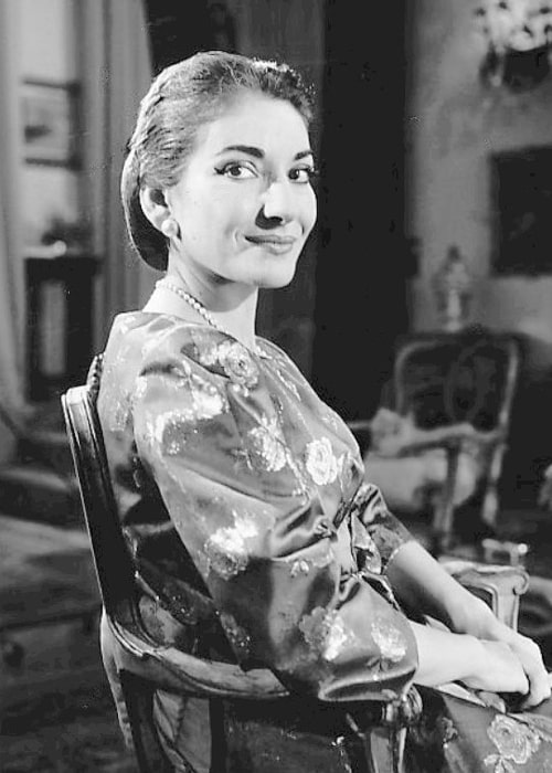 Maria Callas on the television talk show Small World whis was hosted by Edward R. Murrow