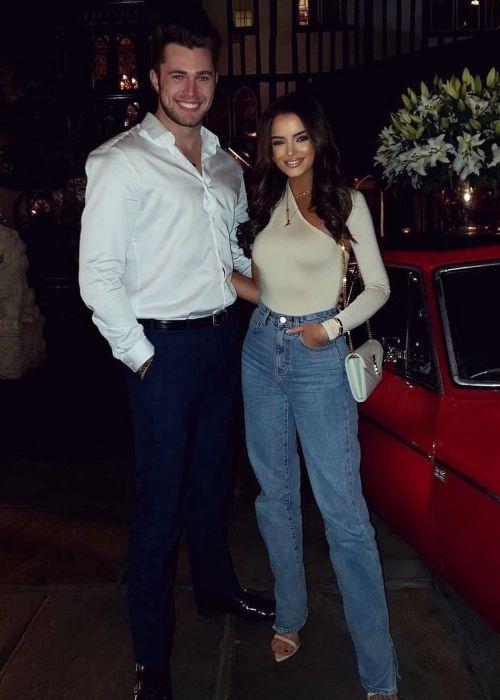 Maura Higgins seen with her boyfriend Curtis Pritchard in October 2019