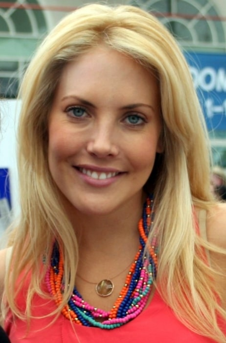 Mercedes McNab as seen while smiling for a picture at San Diego Comic-Con 2011