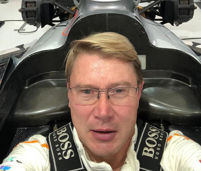 Mika Häkkinen in an Instagram selfie from October 2019