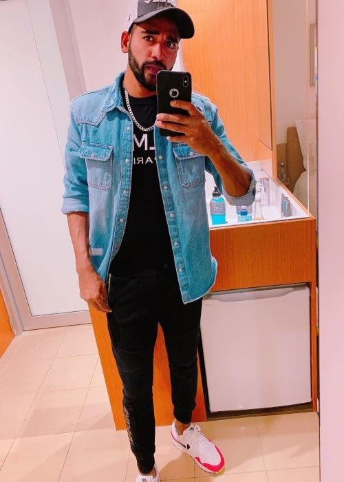 Mohammed Siraj as seen in a selfie taken in Cathedral Square, Christchurch in February 2020