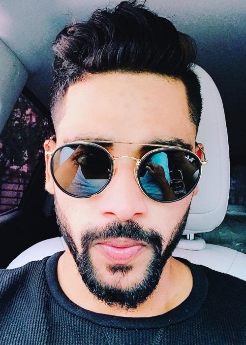 Mohammed Siraj as seen in a selfie taken in while at the Rajiv Gandhi International Airport in Delhi in June 2018