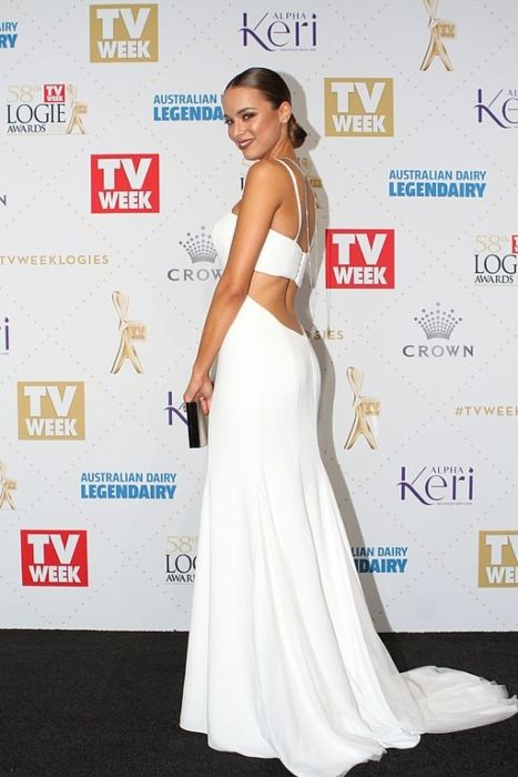 Monika Radulovic seen attending the 58th Annual Logie Awards in 2016