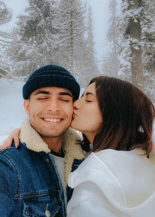 Mrunal Panchal with her boyfriend Anirudh Sharma as seen in February 2020