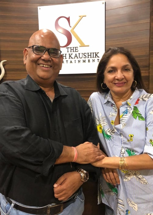 Neena Gupta and fellow actor Satish Kaushik, as seen in January 2020
