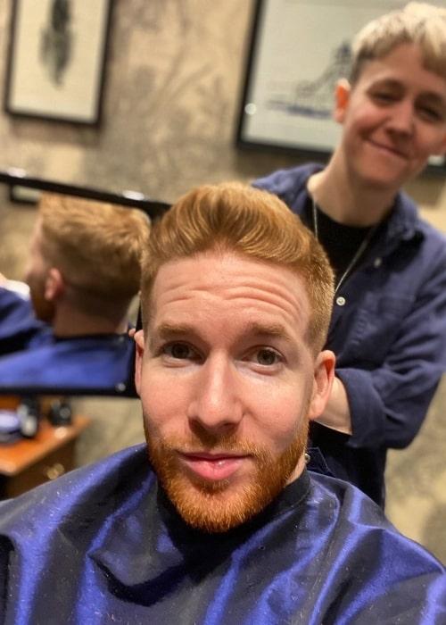 Neil Jones as seen in a selfie taken in Murdock London in March 2020