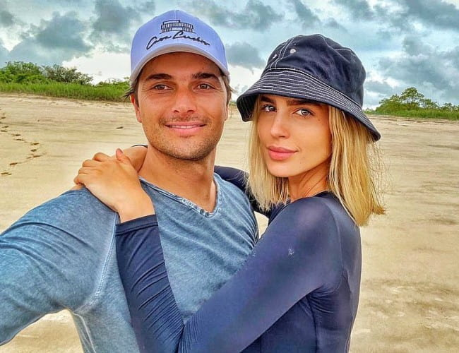 Nelson Piquet Jr. and Gabriella Borges as seen in February 2020